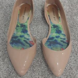 Madden Girl Nude Flats Size 7 5